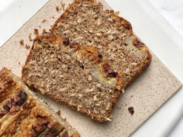 Banana Bread con farina di grano saraceno e cocco senza glutine