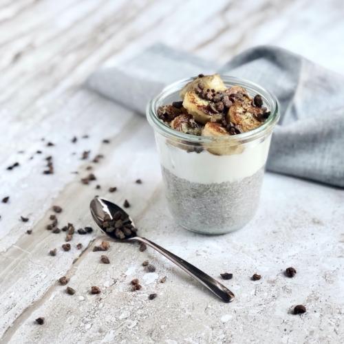 Chia pudding con latte di cocco